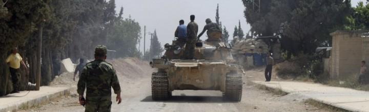 Syrian army regains control of strategic border town