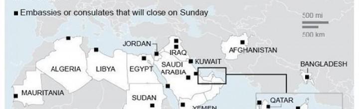 As US embassies shut down, senator calls terrorist threat 'most serious' in …