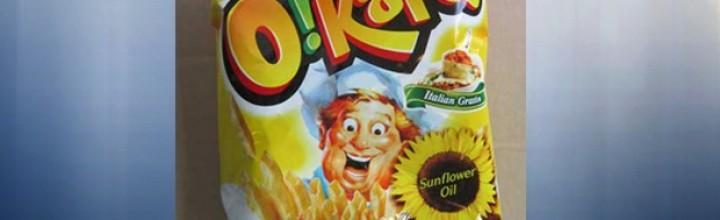 CFIA warn some Orion potato chips contain milk