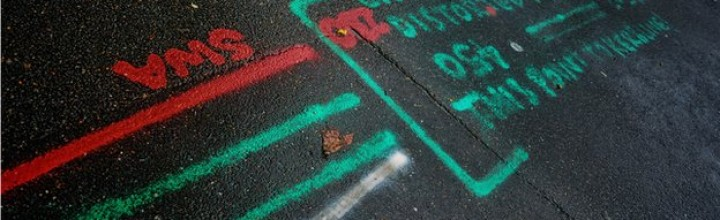 What do those squiggles on the pavement actually mean?